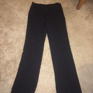 Lululemon flared black yoga pants